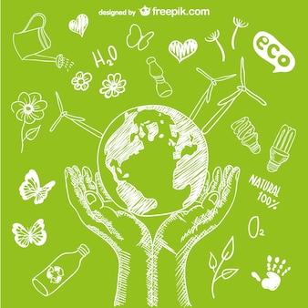 Ochrony środowiska wektor
