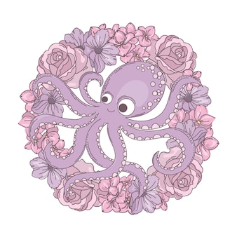 Octopus wreath holiday flower bouquet
