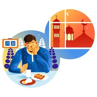 Oczekiwanie na iftar w miesiącu ramadan