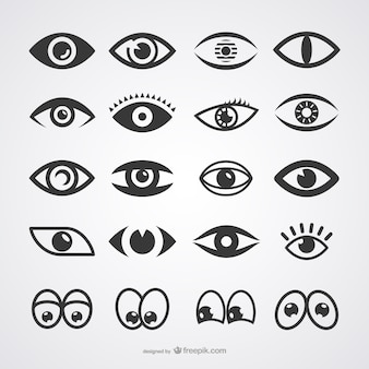 Oczy ikony kolekcji