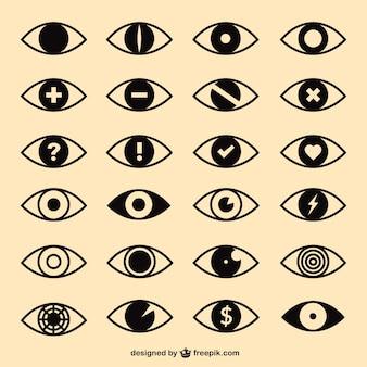 Oczy ikony pack