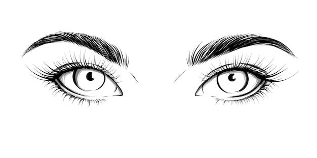 Oczy patrzące prosto. seksowny wygląd.