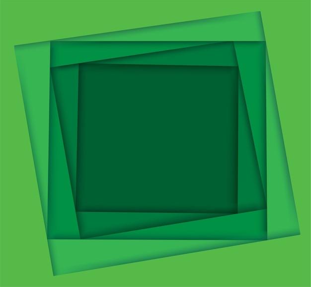 Odcienie zielonego tła kwadratu