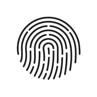 Odcisk palca. ikona aplikacji identyfikatora.