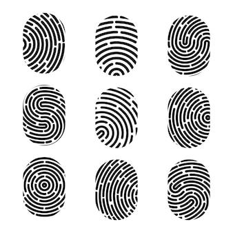 Odcisk palca. znak zbrodni bezpieczeństwa.