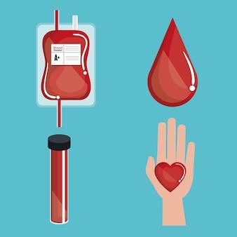 Oddawania krwi medycznych ikona wektor ilustracja projektu