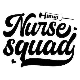 Oddział pielęgniarek typografia szablon cytatu premium vector design