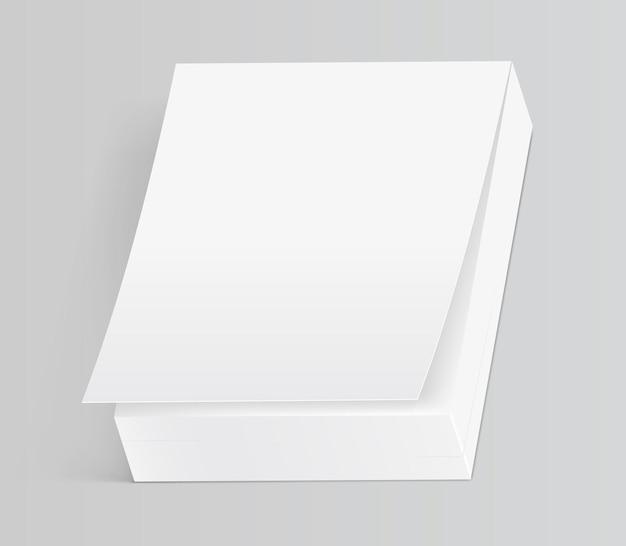 Oderwij notatnik lub kalendarz na białym tle ilustracji