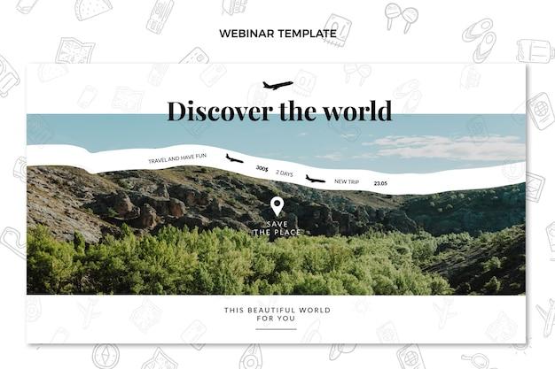 Odkryj światowy szablon webinaru