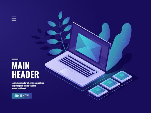 Odkrywaj na ekranie laptopa, koncepcję opinii, wiadomość przychodzącą, e-mail z powiadomieniem