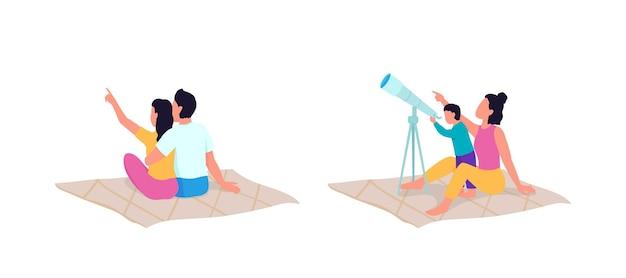Odkrywanie za pomocą płaskiego zestawu znaków bez twarzy teleskopu