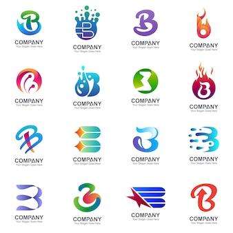 Odmiana kolekcji logo litery b.