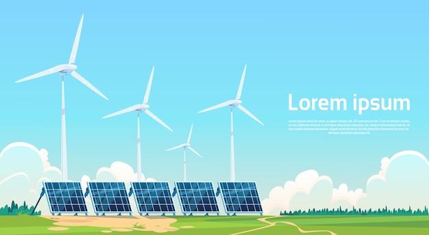 Odnawialna stacja panelu turbin wiatrowych