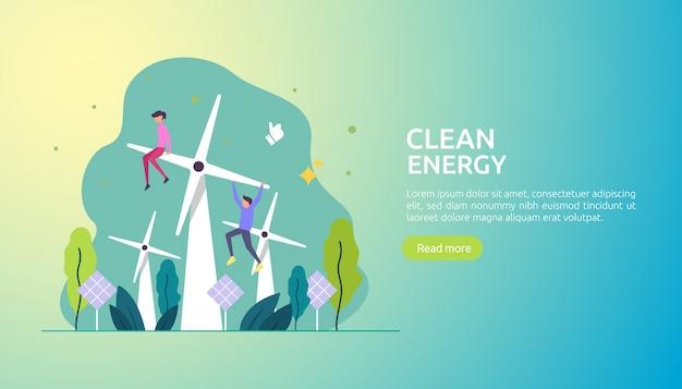 Odnawialne zielone źródła energii elektrycznej i czyste środowisko