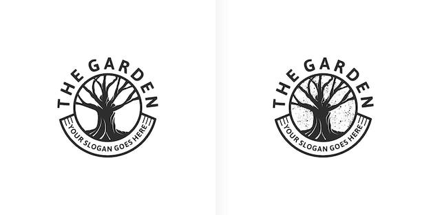 Odniesienie do logo ogrodu dla biznesu