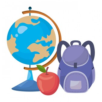 Odosobniona kula ziemska szkolna projekta wektoru ilustracja
