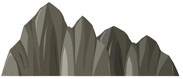 Odosobniona rockowa góra na whitr tle
