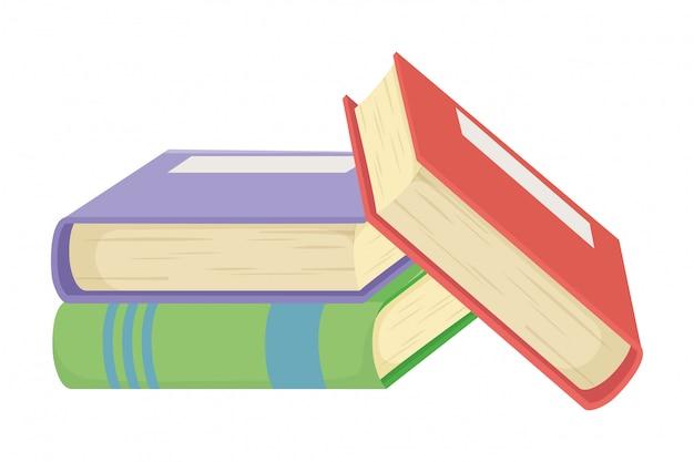 Odosobniony książkowy projekta wektoru ilustrator