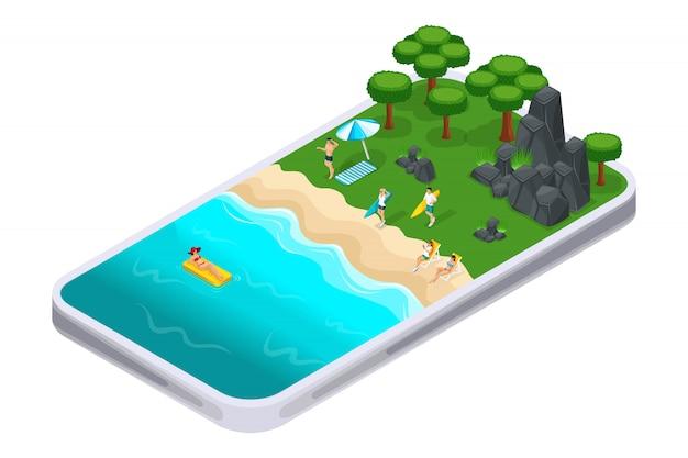 Odpoczynek na naturze, skała, góry, kamienie, trawa, krajobraz, dziewczyny opalają się. pojęcie biwakowania i surfowania