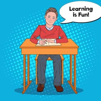 Odrabiania lekcji szczęśliwy uczeń