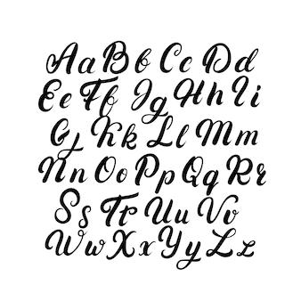 Odręczne litery czcionki.