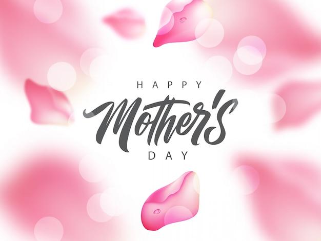 Odręczne powitanie szczęśliwy dzień matki