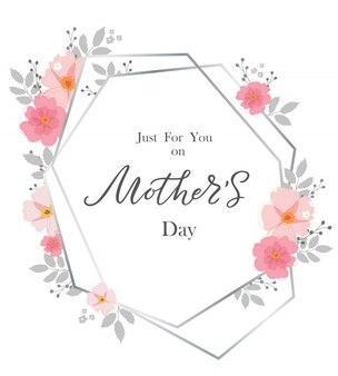 Odręczny, kwiatowy rama happy mother's day