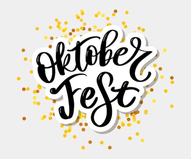 Odręczny napis oktoberfest.