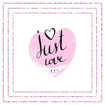 Odręczny napis wektor. walentynki-dzień plakat. tylko miłość