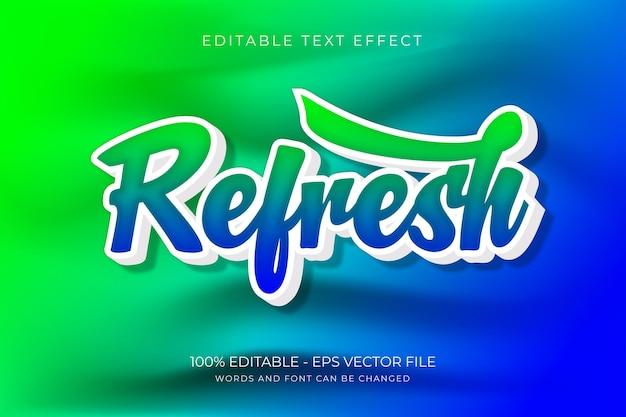 Odśwież edytowalny efekt tekstowy premium wektor