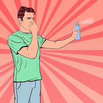 Odświeżacz powietrza w sprayu pop art man