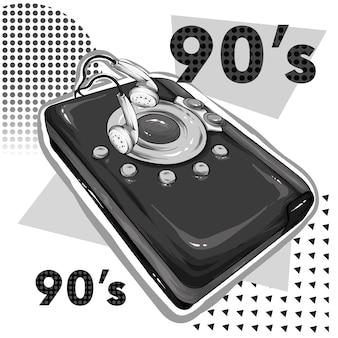 Odtwarzacz muzyki w stylu vintage