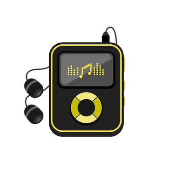Odtwarzacz muzyki z ikoną słuchawki.