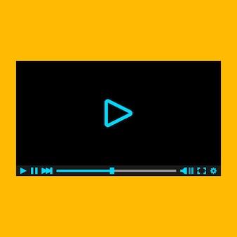 Odtwarzacz wideo dla sieci web, ilustracji wektorowych, eps10.