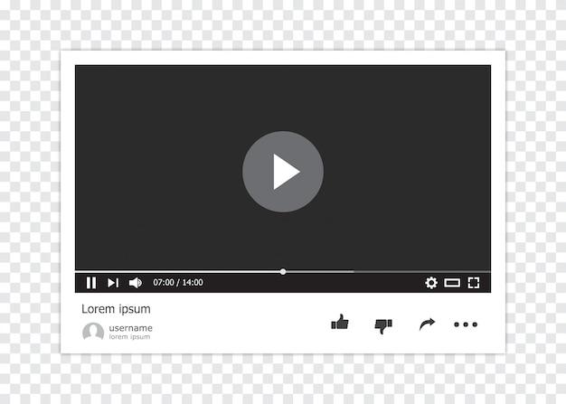 Odtwarzacz wideo online na białym tle
