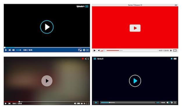 Odtwarzacz wideo, ramki interfejsu aplikacji transmisji