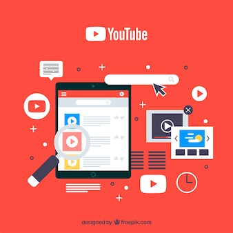 Odtwarzacz youtube w urządzeniu o płaskiej konstrukcji