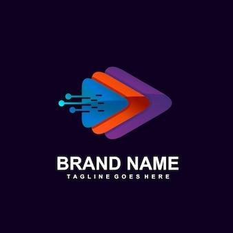 Odtwórz ikonę w logo sieci technologicznej
