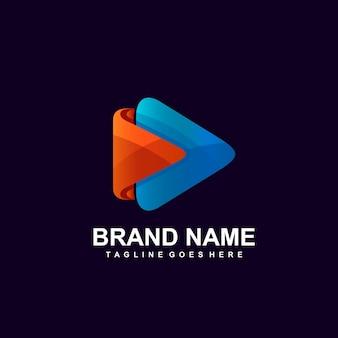 Odtwórz projekt logo ikony wideo