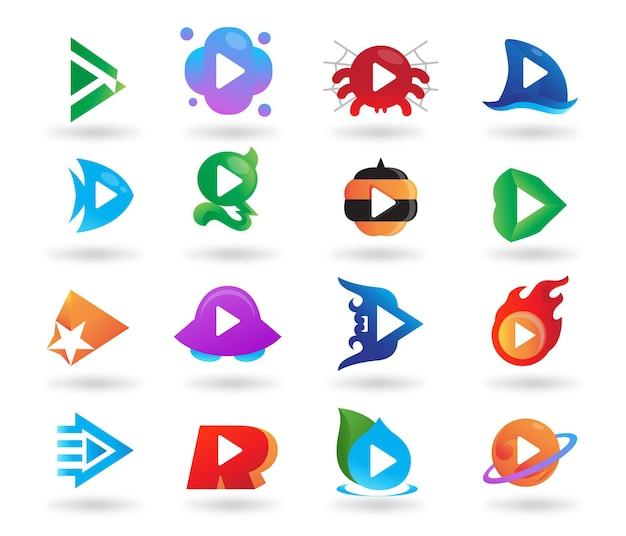Odtwórz projekt logo wideo aplikacji
