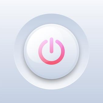 Odtwórz przycisk na białym tle