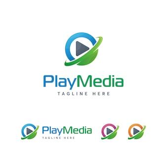 Odtwórz szablon logo multimediów
