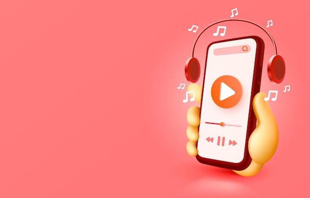 Odtwórz wideo smartfon z technologią ekranu mobilnego mobilny wektor wyświetlania