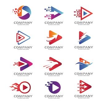 Odtwórz zestaw logo media