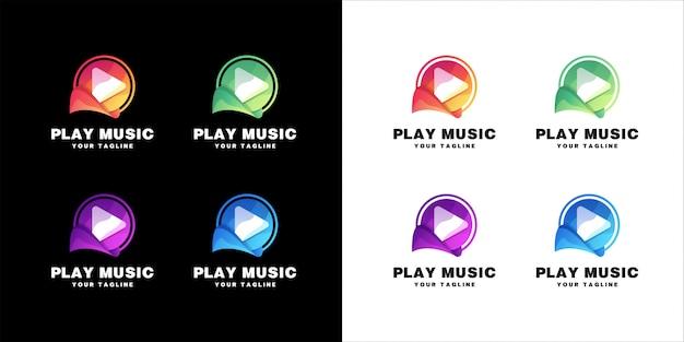 Odtwórz zestaw logo muzyki