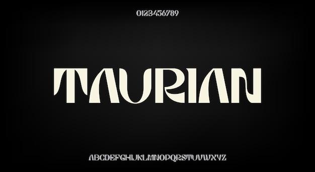 Odważna i elegancka czcionka, nowoczesny krój pisma. alfabet