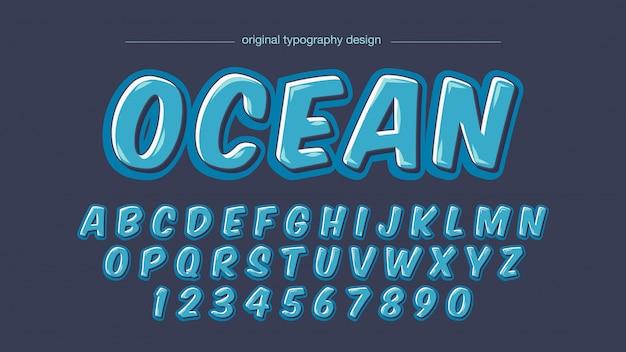 Odważna typografia dla blue cartoon comics