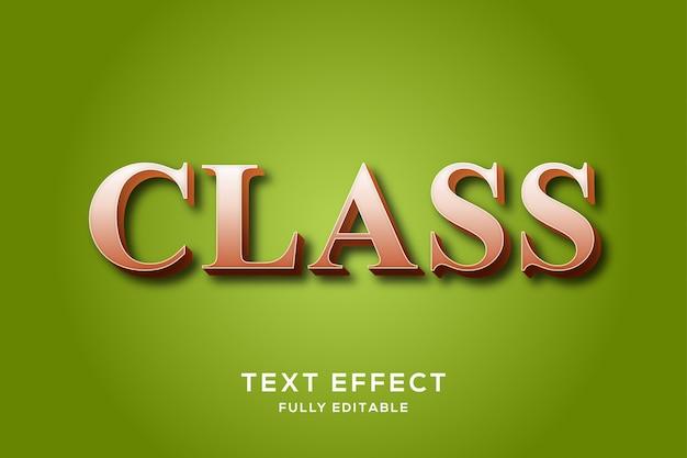 Odważny efekt tekstowy klasy clean