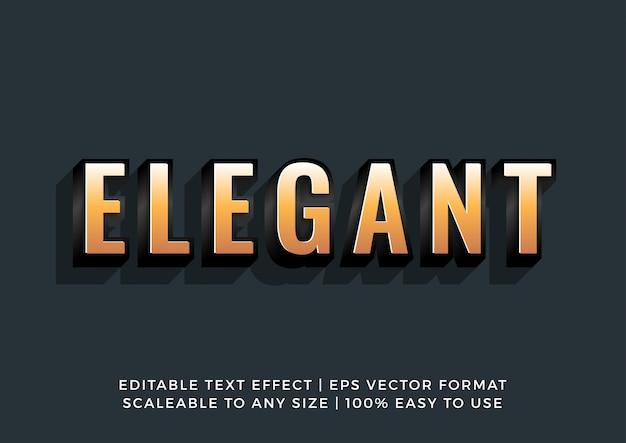 Odważny elegancki efekt złotego tekstu