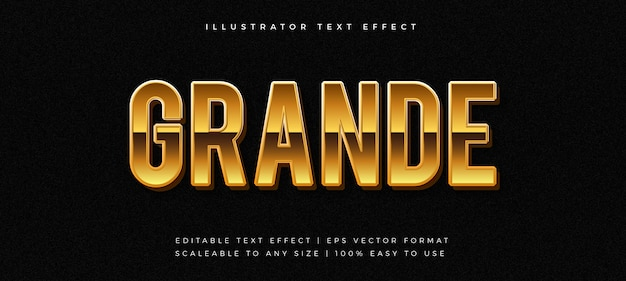 Odważny, luksusowy efekt czcionki w stylu złotego tekstu